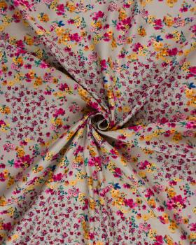 Satin imprimé petites fleurs Beige - Tissushop
