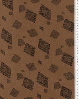 Suedine motif géométrique Beige - Tissushop