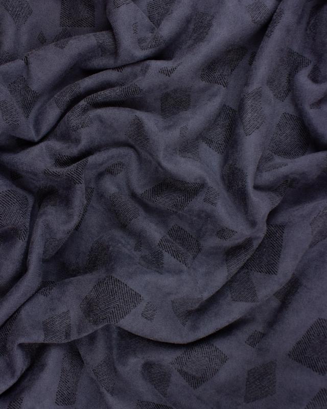 Suedine motif géométrique Gris - Tissushop