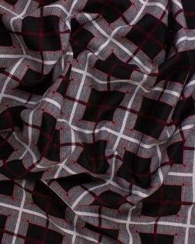 Checkered mesh Bordeaux - Tissushop