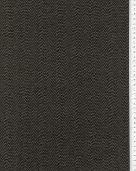 Herringbone jersey Taupe - Tissushop