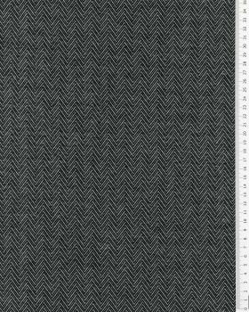 Herringbone jersey Black - Tissushop