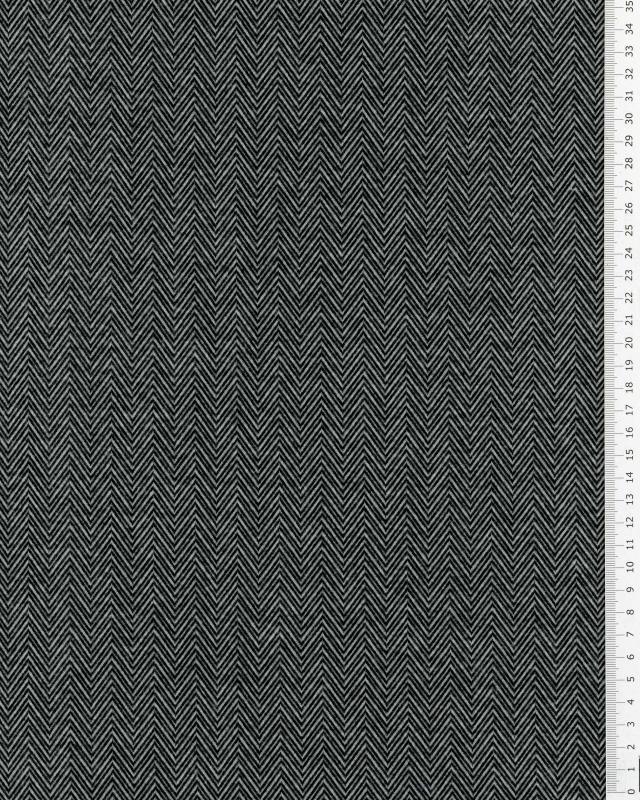 Jersey chevron Noir - Tissushop