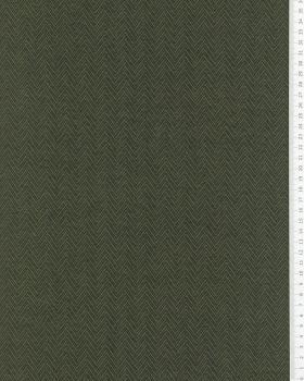 Herringbone jersey Khaki - Tissushop