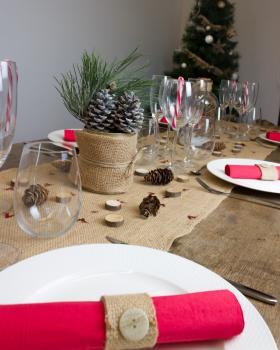 Chemin de table en jute - 260 gr/m² - 50 cm - naturel - Tissushop