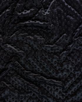 Dot minkee fleece Black - Tissushop
