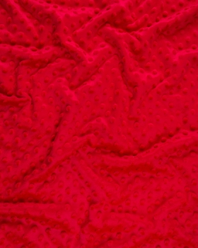 Dot minkee fleece Red - Tissushop