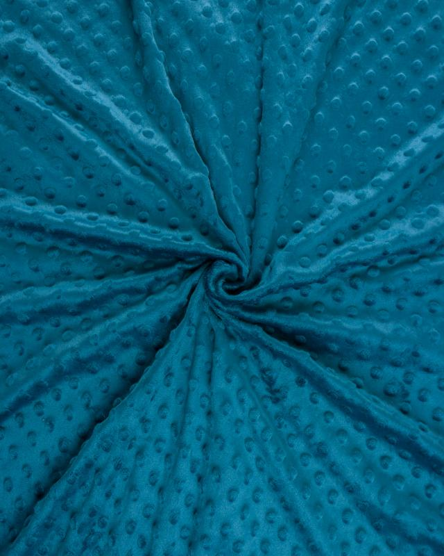 Dot minkee fleece Dark Cyan - Tissushop