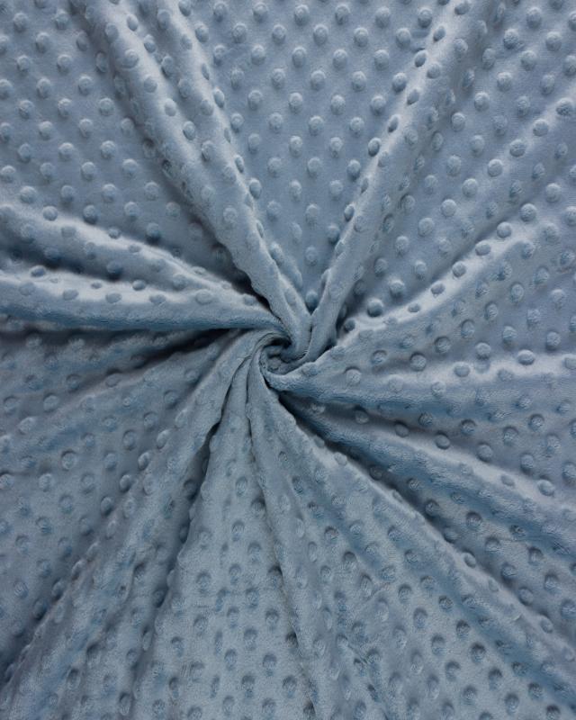 Dot minkee fleece Light Blue - Tissushop