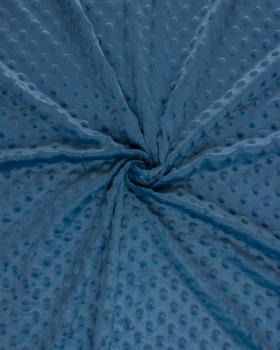 Minky à pois Bleu Jeans - Tissushop