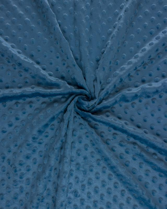 Dot minkee fleece Blue Jeans - Tissushop