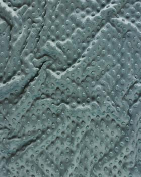 Dot minkee fleece Eucalyptus Green - Tissushop