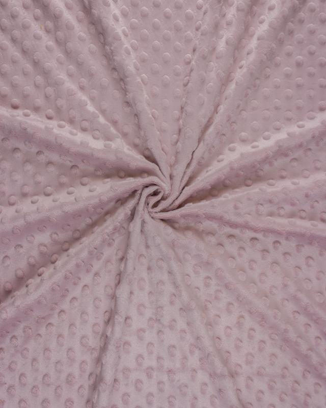 Dot minkee fleece Powder Pink - Tissushop