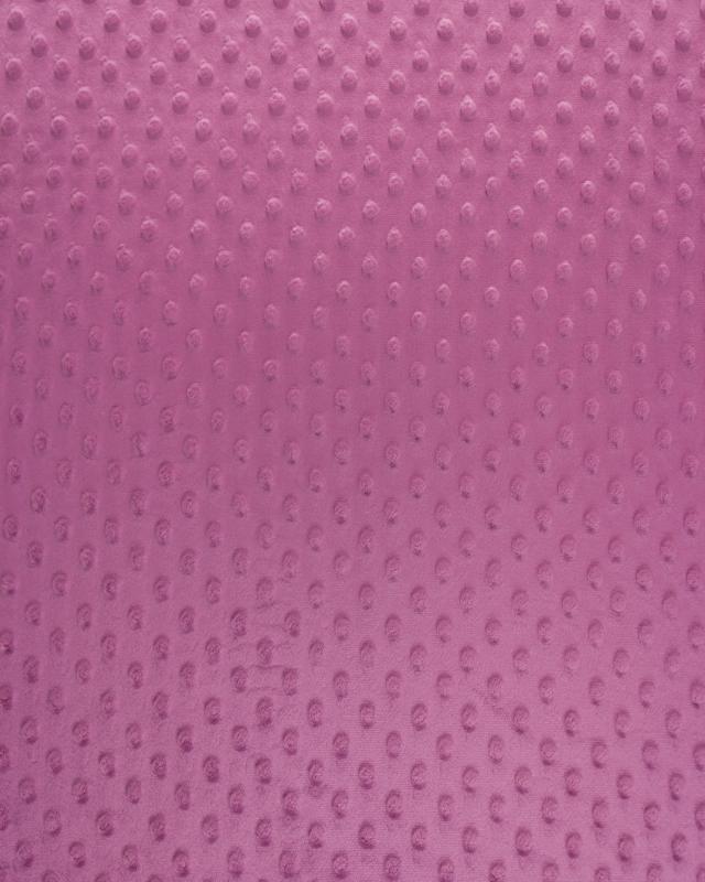 Dot minkee fleece Old Pink - Tissushop