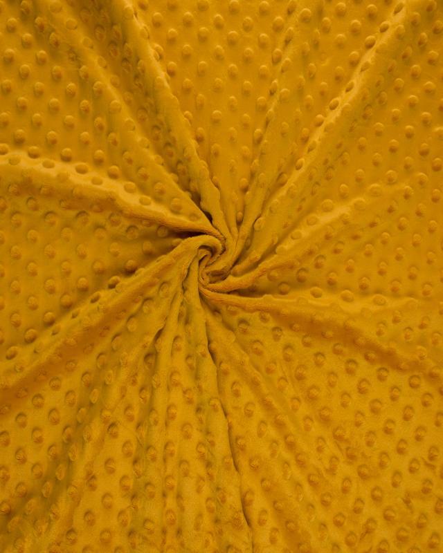 Dot minkee fleece Mustard - Tissushop
