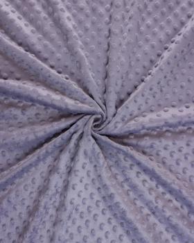 Dot minkee fleece Plum - Tissushop