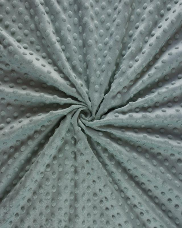 Dot minkee fleece Green Grey - Tissushop