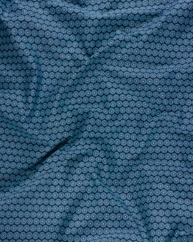 Popeline de coton daisy Bleu - Tissushop