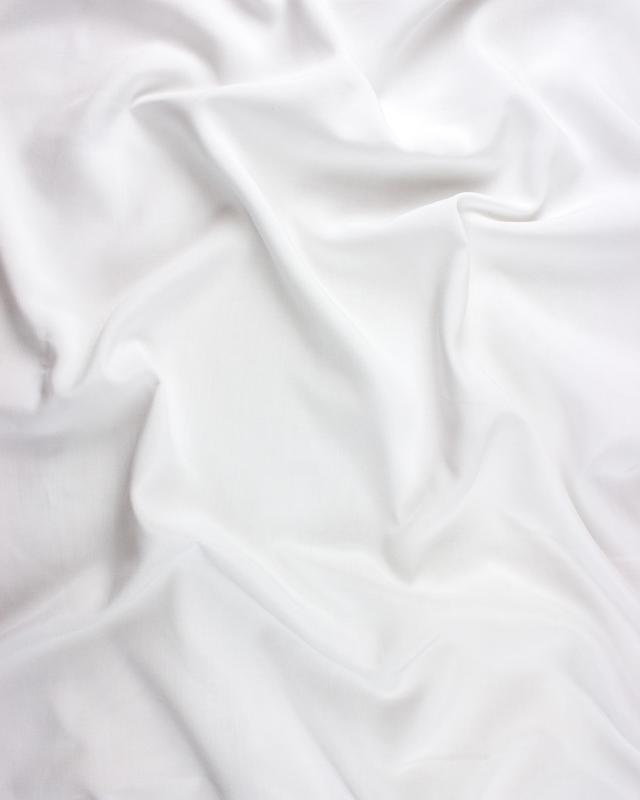 Viscose uni Blanc - Tissushop
