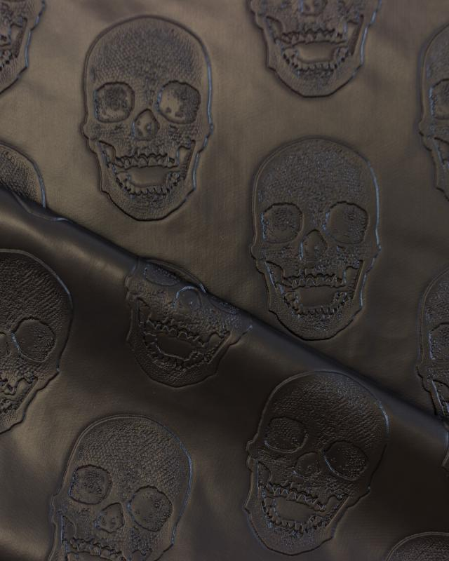 Imitation leather skull printed Black - Tissushop