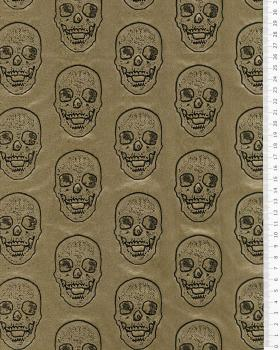 Imitation leather skull printed Gold - Tissushop