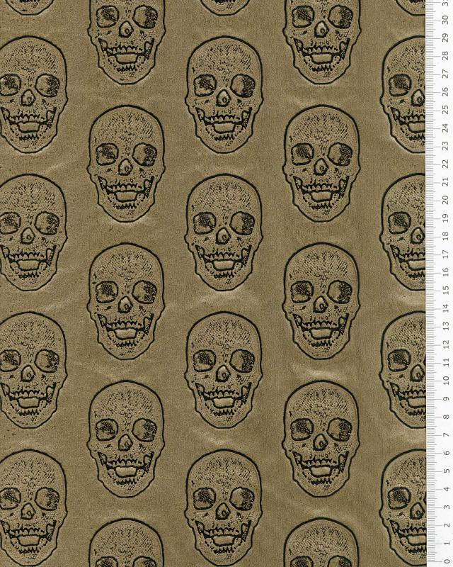 Imitation leather skull printed Gold - Tissushop