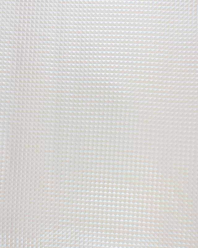 Imitation leather pyramid Pearl White - Tissushop
