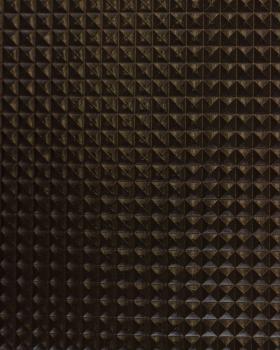Simili Cuir pyramide Noir - Tissushop