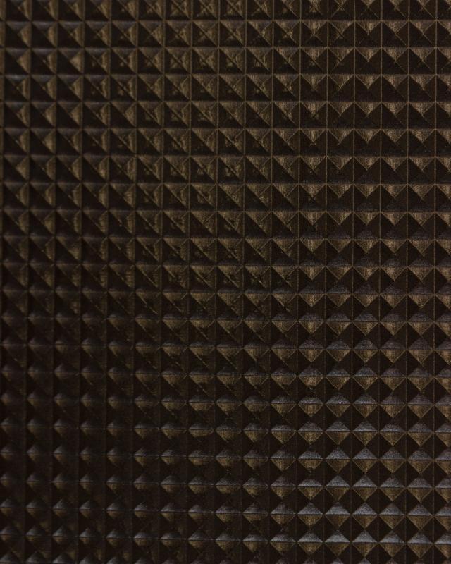 Imitation leather pyramid Black - Tissushop