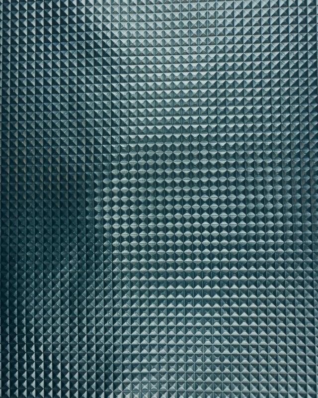 Imitation leather pyramid Dark Cyan - Tissushop
