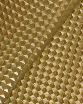 Imitation leather pyramid Gold - Tissushop