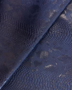 Shiny imitation dragon Navy Blue - Tissushop