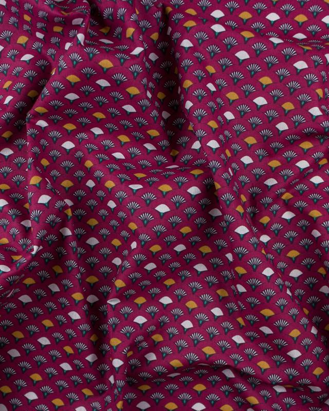 Muji cotton popelin Bordeaux - Tissushop