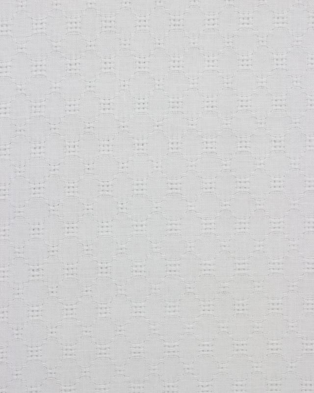 Openwork dyed cotton popelin White - Tissushop