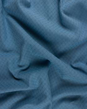 Openwork dyed cotton popelin Blue - Tissushop