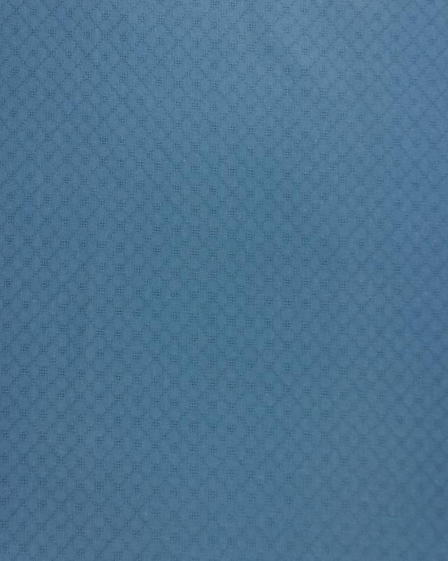 Openwork dyed cotton popelin Blue - Tissushop