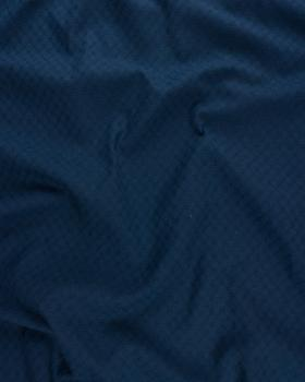 Openwork dyed cotton popelin Navy Blue - Tissushop
