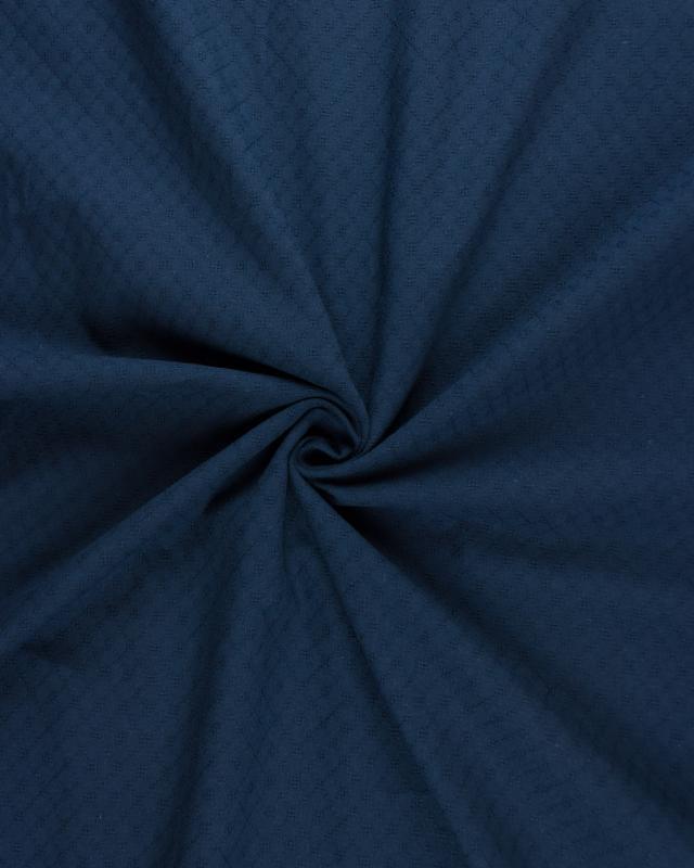 Openwork dyed cotton popelin Navy Blue - Tissushop