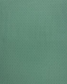 Popeline de coton ajourée Vert Eucalyptus - Tissushop