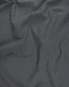 Openwork dyed cotton popelin Dark Grey - Tissushop