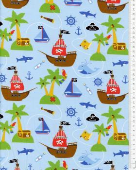 Jersey bateau de pirates Bleu Ciel - Tissushop