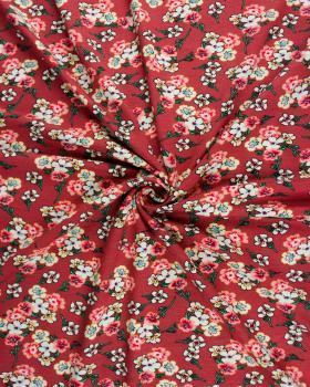 Flowery jersey Bordeaux - Tissushop