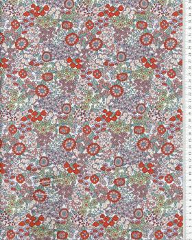 Cotton Flowers and butterfly pattern Orange - Tissushop