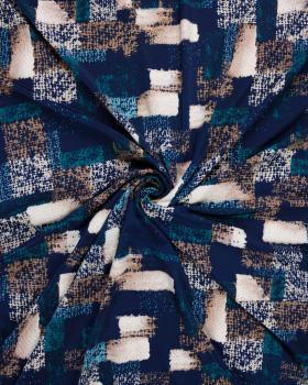 Cubic stretch jersey Blue - Tissushop