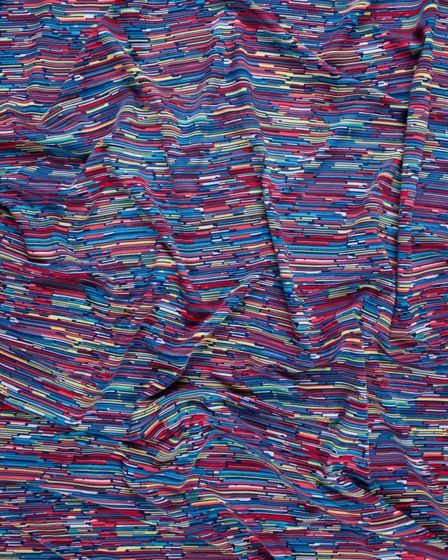Jersey stetch multistrate Multicolore - Tissushop