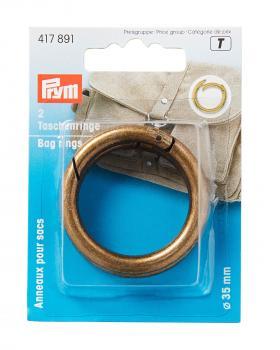 Bag rings 30mm Prym Old Gold - Tissushop
