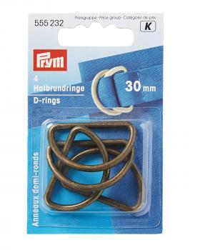 D-rings 30 mm Prym Old Gold - Tissushop