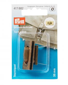 Rectangular turn clasp 35 mm Old Gold - Tissushop