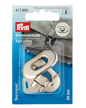 Rounded turn clasp 35 mm Prym Silver - Tissushop