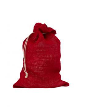 Sac cadeau en jute noël Rouge - Tissushop